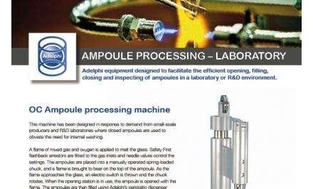 Ampoule Processing - Laboratory