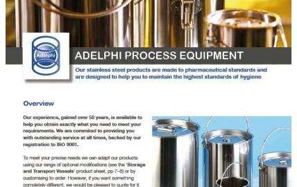 Adelphi Process Equipment