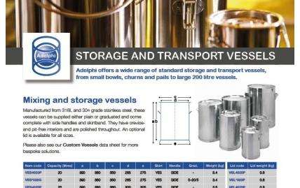 Storage & Transport Vessels