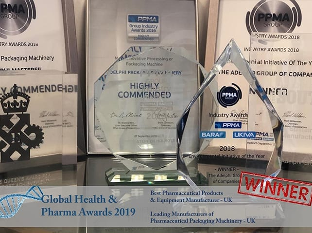 Adelphi Manufacturing scoop double awards victory at Global Health & Pharma Awards