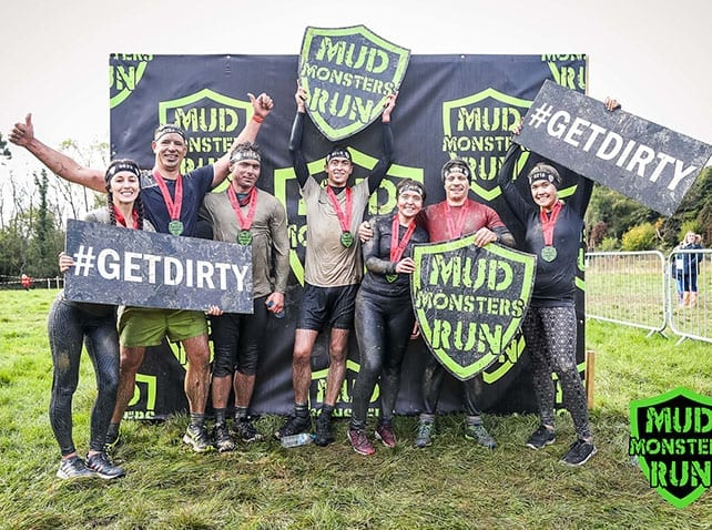Adelphi colleagues complete muddy 5k for local charity Kangaroos